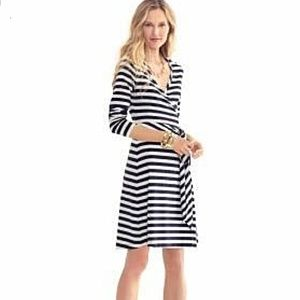 Banana Republic Striped Wrap Dress